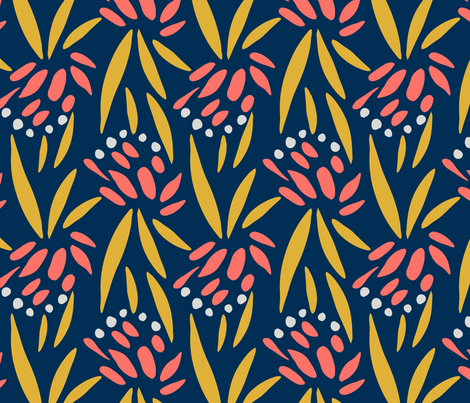 foliage_coral-01 fabric by katie_hayes on Spoonflower - custom fabric