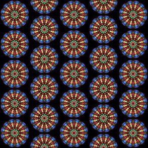 pinwheel on black