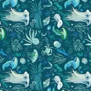 aqua pattern | rotated