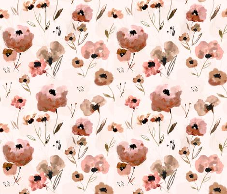Field of Flowers  fabric by alison_janssen on Spoonflower - custom fabric