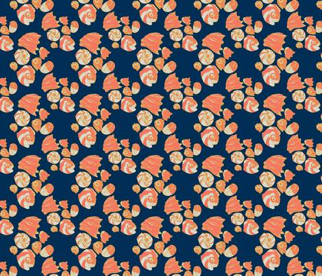 Shells_6x6_flat fabric by doodlrennolds on Spoonflower - custom fabric