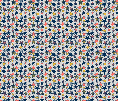 Stars fabric by alexsan on Spoonflower - custom fabric