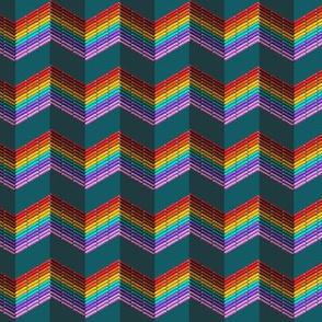 stitched rainbow stripe