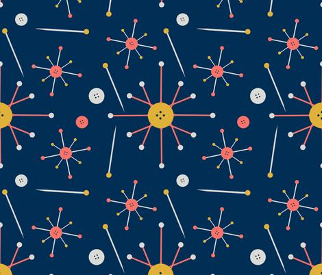 Midmod Pinburst fabric by lochnestfarm on Spoonflower - custom fabric