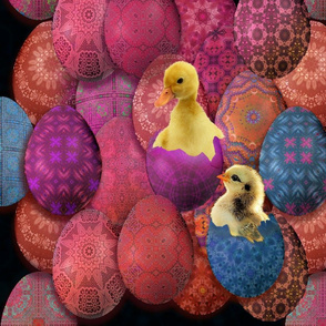 My pysanky chick and duckling