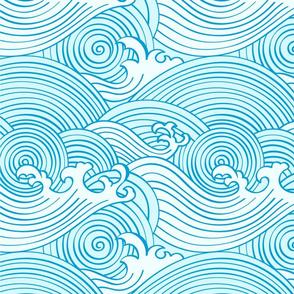 rendered japanese waves larger file 3600