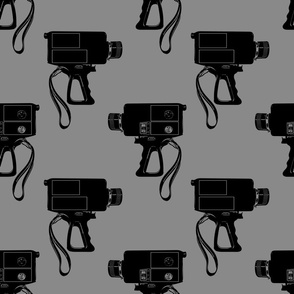 Vintage Film Camera - Gray Background