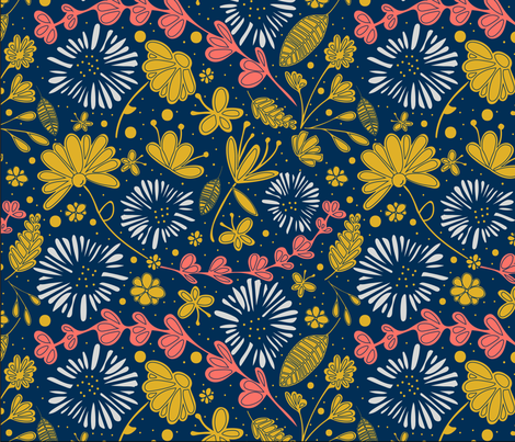 Whimsical Floral fabric by purechiccreations on Spoonflower - custom fabric