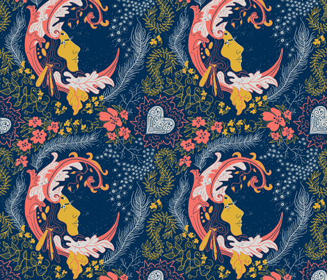 Moon Mistress fabric by inkysunshine on Spoonflower - custom fabric
