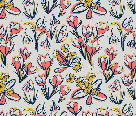 First Spring Flowers fabric by marketa_stengl on Spoonflower - custom fabric