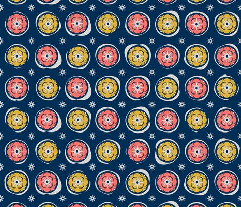 Bright circles fabric by inna_alborova on Spoonflower - custom fabric