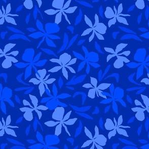 Deep Blue Orchids