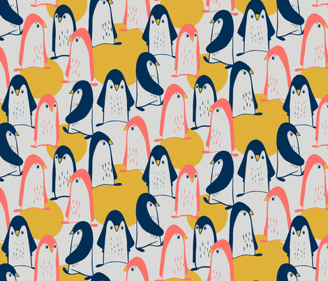 Convention of penguins fabric by alined on Spoonflower - custom fabric