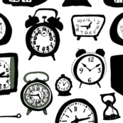 Clocks and the Passing of Time, Black on White