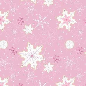Snowflake Cookies - pink