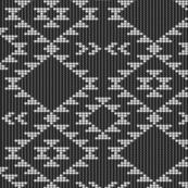 Black & white textured southwestern navajo