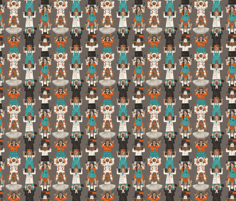 Girl Tower small fabric by mariaspeyer on Spoonflower - custom fabric