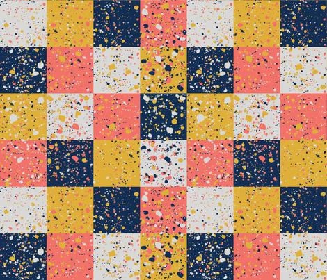 Terrazzo Plaid fabric by am_design_lines on Spoonflower - custom fabric