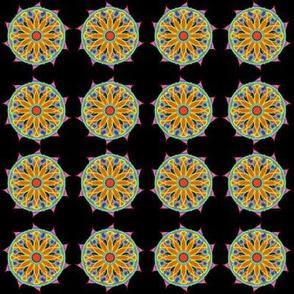 Rolling flower mini mandala