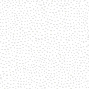 scalloping dots // reverse pantone 169-2