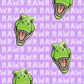 Tyrannosaurus rex  - RAWR purple 2- dinosaur trex LAD19