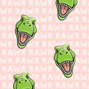 Tyrannosaurus rex  - RAWR pink 2- dinosaur trex LAD19