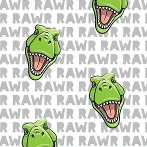 Tyrannosaurus rex  - RAWR grey 2- dinosaur trex LAD19
