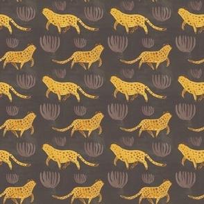 Leopard Repeat Dark Background