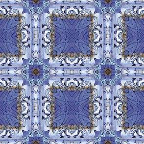 Blue Doodle Mosaic Tiles