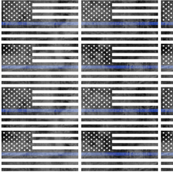 Thin Blue Line flag -  - Police - Back the Blue - distressed LAD19