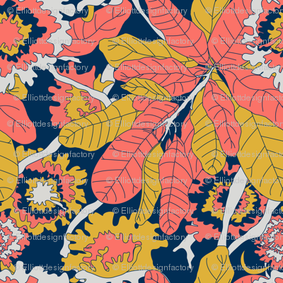 Bold Banana Leaf Jungle Floral - Limited Color Palette 2019