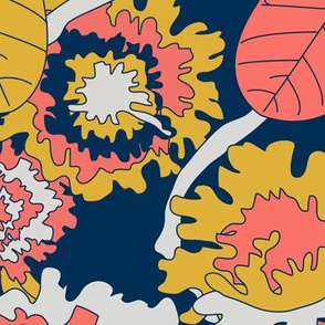 Bold Banana Leaf Jungle Floral - Limited Color Palette 2019