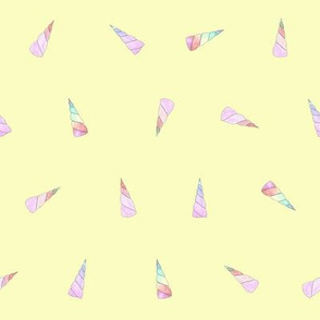 unicorn horns on yellow