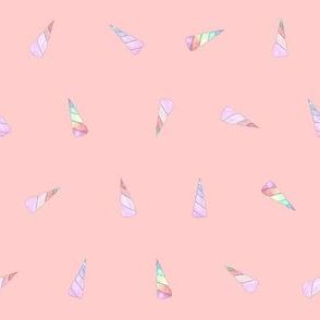 unicorn horns on pink