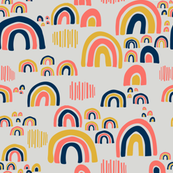 Playful Rainbows - Gray