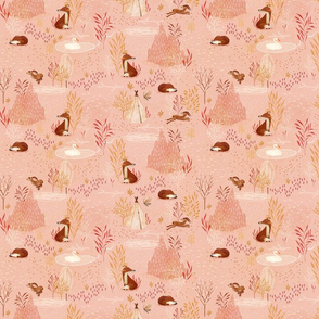 Fox whispers {pink} small