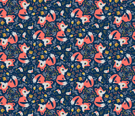 CoralLimitedPalette_charliepOp fabric by charlie_pop on Spoonflower - custom fabric