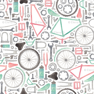 Bike Parts, Cycling Pattern! (extra small)
