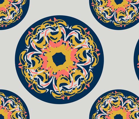 Polka dots irregular fabric by stoffdoktor on Spoonflower - custom fabric