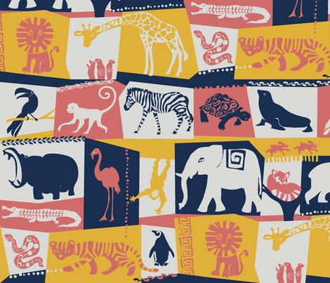 limitedpalatezoo fabric by johanna_design on Spoonflower - custom fabric