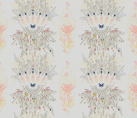 Living Coral Dream Catcher fabric by paisleylady on Spoonflower - custom fabric