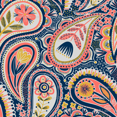 limited colour paisley