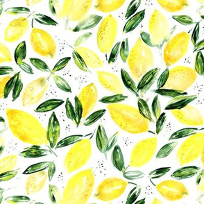 So luscious lemons, watercolor summer print