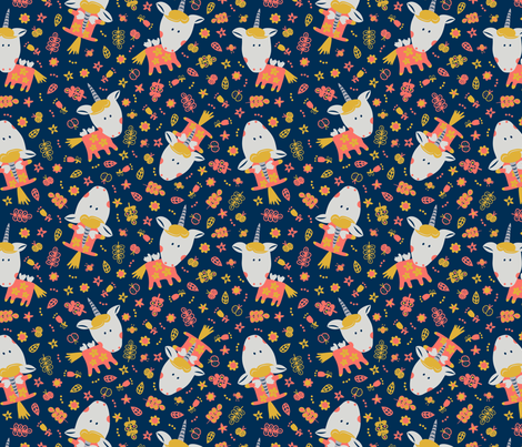 I can fly_ unicorn fabric by iying on Spoonflower - custom fabric