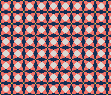 Coral at Midnight fabric by kole-n-co on Spoonflower - custom fabric
