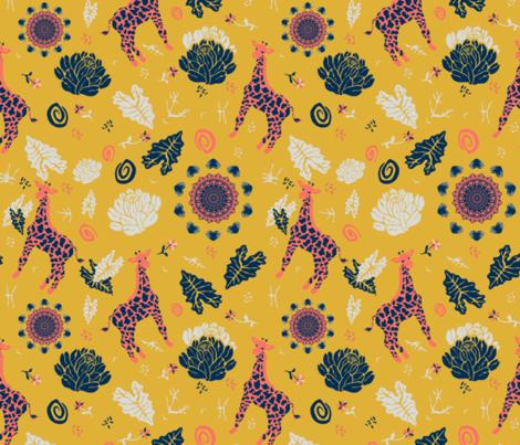 Giraffe Safari  fabric by iadesigns on Spoonflower - custom fabric