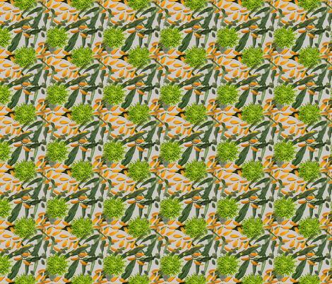 Bright and Bold Flowers Petals and Leaves fabric by esmedesign on Spoonflower - custom fabric