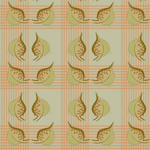 1970s Retro Style Abstract Leaf Pattern Edit 1