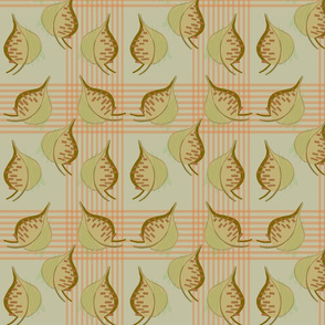 1970s Retro Style Abstract Leaf Pattern Edit 2