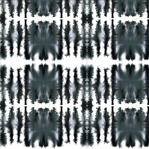 Rorschach Test Style Painted Stripe Pattern
